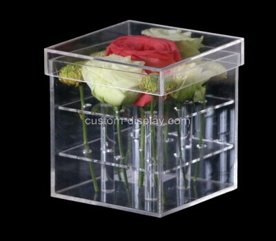 Custom acrylic lucite flower box