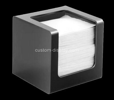 custom black acrylic ficial tissue dispenser box
