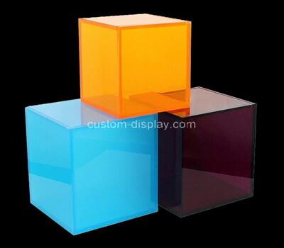 Custom color acrylic plexiglass cube box