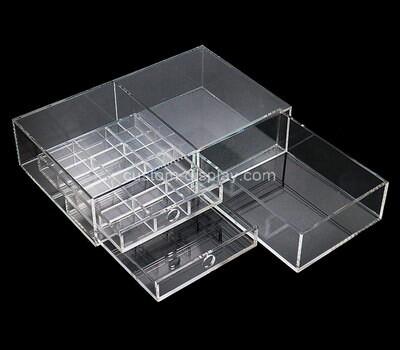 Custom acrylic lucite drawer organizer box
