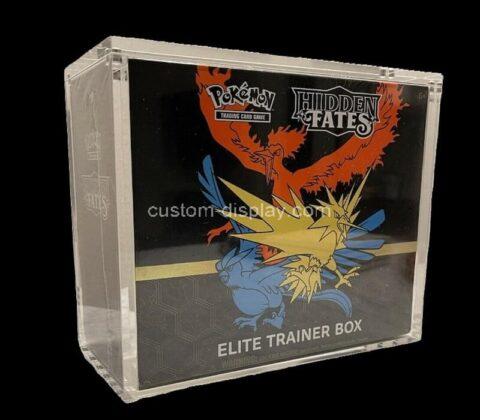 Custom acrylic pokemon ETB magnetic lid box lucite Elite trainer box