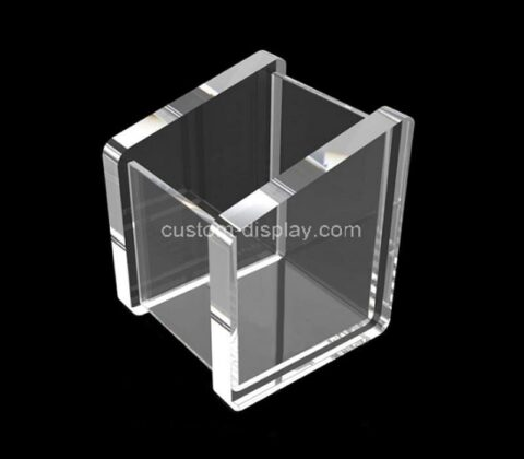 Customize crystal clear acrylic pencil holder cup,lucite makeup brush organizers