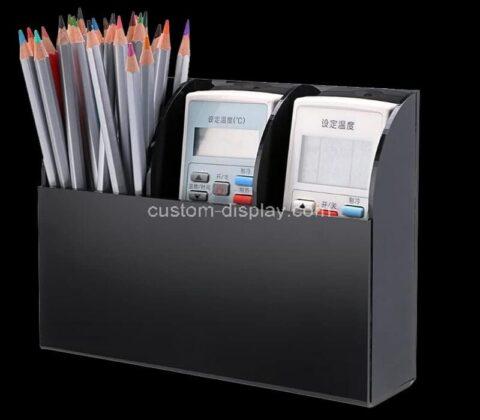 Customize wall mount acrylic remote control holder perpsex media organizer storage box