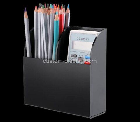 Customize wall mount plexiglass remote control holder acrylic media organizer storage box
