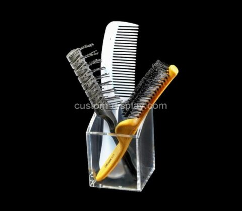 Customize acrylic pencil cup lucite comb holder box