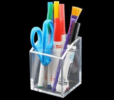 Customize plexiglass pen holder box acrylic pencil cup perspex stationery holder