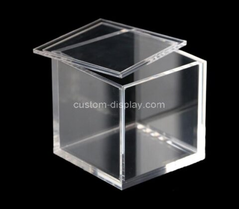 Customize clear acrylic boxes small cube lucite storage boxes for gifts, weddings, party favors, treats, candies & accessories