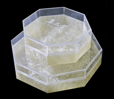 Customize clear acrylic storage boxes octagonal,small octagon lucite boxes for gifts, weddings, party favors, treats, candies & accessories