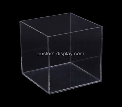 Custom square acrylic box multi purpose perpsex box for office or home display in any room