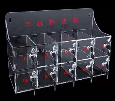 Custom acrylic cell phone station lucite iPad mini locker station
