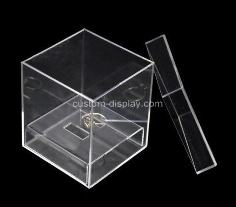 Custom acrylic wedding ring box plexiglass case