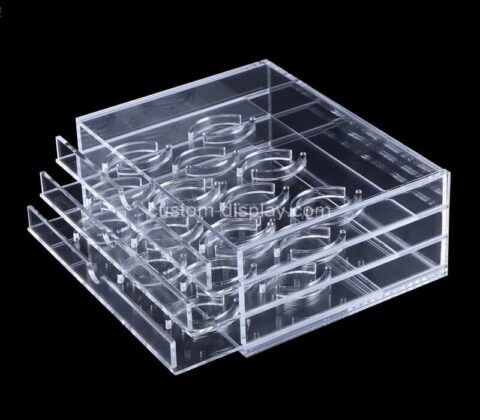 Custom acrylic lash box lucite eyelash display case plexiglass organizer