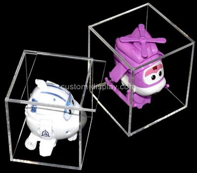 Custom lucite toy display case acrylic storage box plexiglass organizer