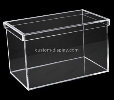 Custom acrylic storage box lucite organizer with lid
