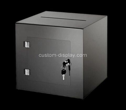 Custom plexiglass ballot box acrylic donation box perspex voting box