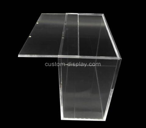 Custom plexiglass booster box acrylic case plastic protector box for pokemon cards storage display