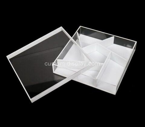 Custom plexiglass storage box acrylic case with lid