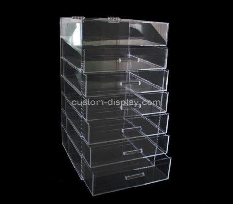 Custom plexiglass cosmetic box acrylic makeup drawer luicte drawer