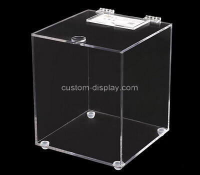 Custom plexiglass supermarket box acrylic storage box