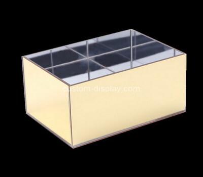Custom mirror plexiglass box acrylic storage case
