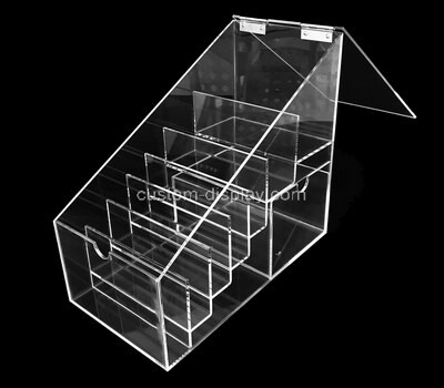 Custom counter top acrylic multi dividers box lucite display case