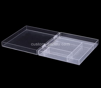 Custom plexiglass display case perspex storage box acrylic organizer