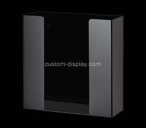 Custom acrylic glove box plexiglass dispenser - wall mounted perspex holder for home, office, hospital
