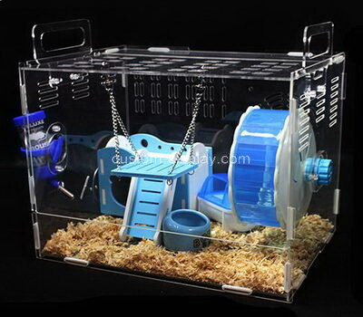 Custom lucite hamster cages acrylic small pet rat cage house