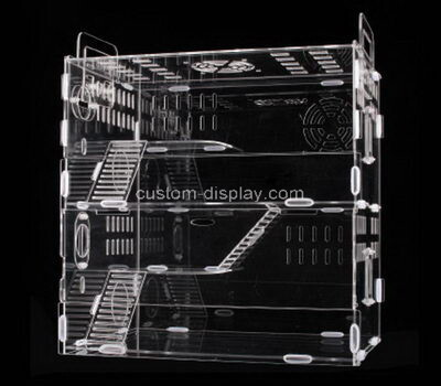 Custom perspex hamster cages plexiglass small animal pet cage house