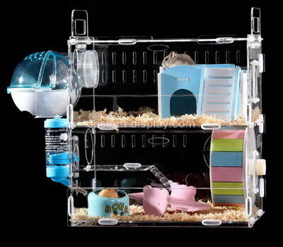 Custom acrylic hamster cages plexiglass small animal pet hideout house