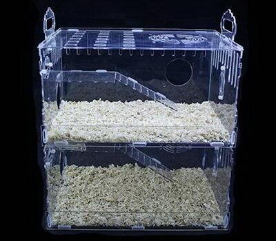 Custom acrylic gerbils cages plexiglass hedgehog hideout hut