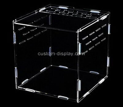 Custom acrylic reptile feeding box transparent plexiglass breeding box lucite terrarium