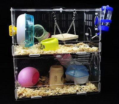 Custom acrylic hamster cage lucite breeding box perspex terrarium