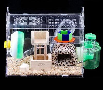 Custom plexiglass small animal box lucite hamster cage perspex breeding box
