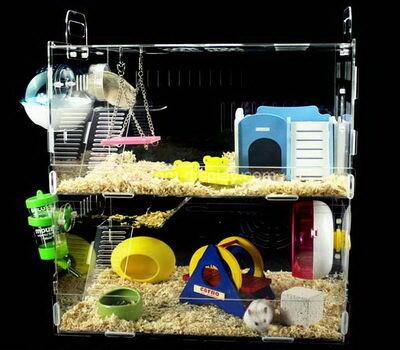 Custom acrylic pet guinea pig cage plexiglass pet nest lucite hamster house
