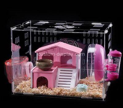 Custom acrylic small animal cage plexiglass pet house perspex hamster nest
