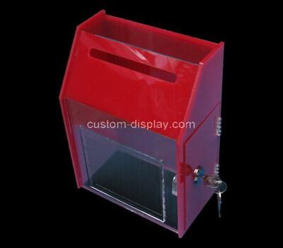 Custom acrylic suggestion box plexiglass lockable election box