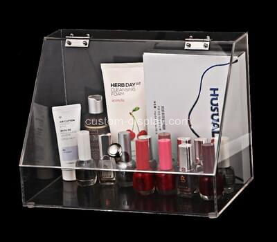 Custom plexiglass make up showcase lucite cosmetic display box