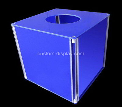 Custom acrylic raffle boxes perspex tickets lucky draw box plexiglass lottery case