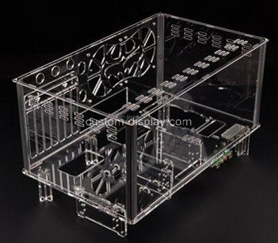 Custom transparent lucite computer case clear perspex computer box