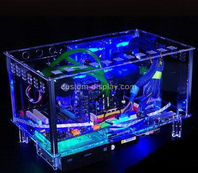 Custom transparent plexiglass computer case clear acrylic computer box