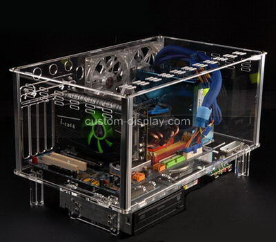 Custom transparent perspex computer case clear lucite computer box