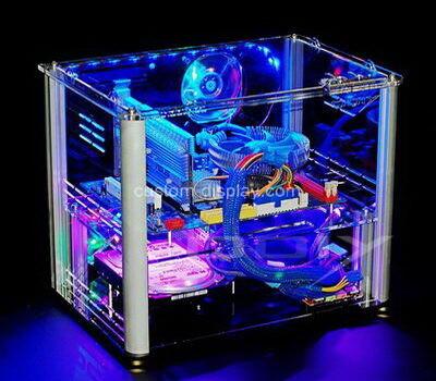 Custom clear perspex computer case transparent lucite computer box