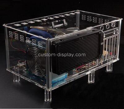 Custom clear acrylic computer case transparent perspex computer box