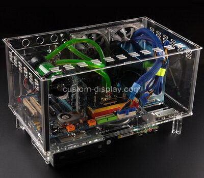 Custom clear lucite computer case transparent perspex computer box
