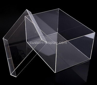 Customize transparent plexiglass display case with lid