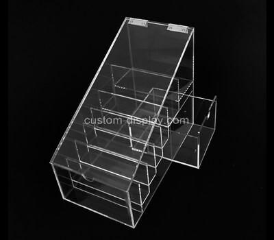 Customize plexiglass multi compartment organizer box with lid