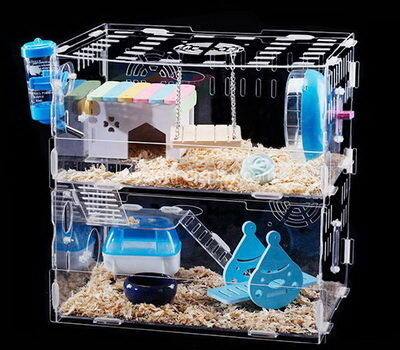 Customize plexiglass hamster habitat home acrylic small pet animals house