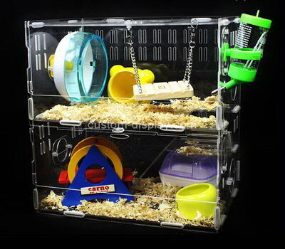 Customize lucite hamster habitat home perspex small pet animals house