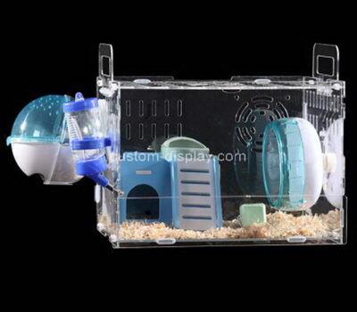 Customize acrylic hamster habitat cage plexiglass small pet animals house